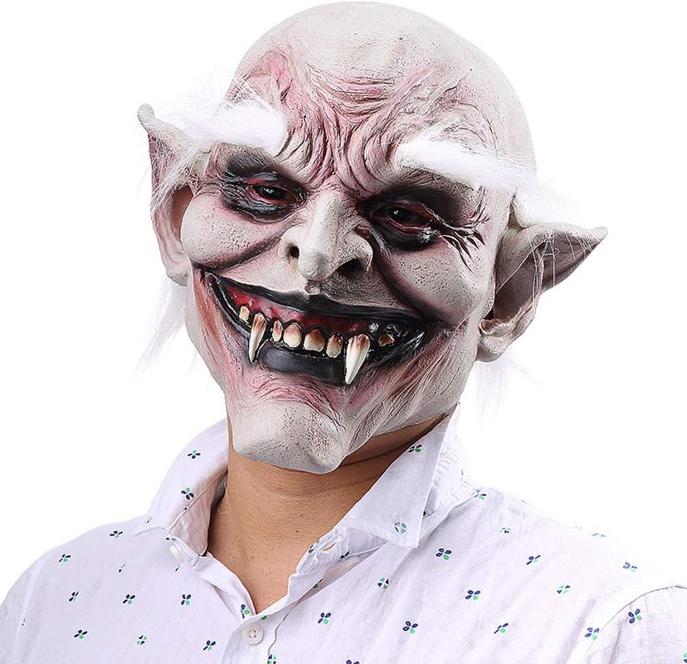 GUFIKY - Máscara de látex para Disfraz de Viejo Demonio con Cejas ...