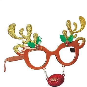 43d3bbf9185e Outdoor Look Christmas Mens   Womens Novelty Festive Reindeer Mask Glasses   Amazon.co.uk  Sports   Outdoors
