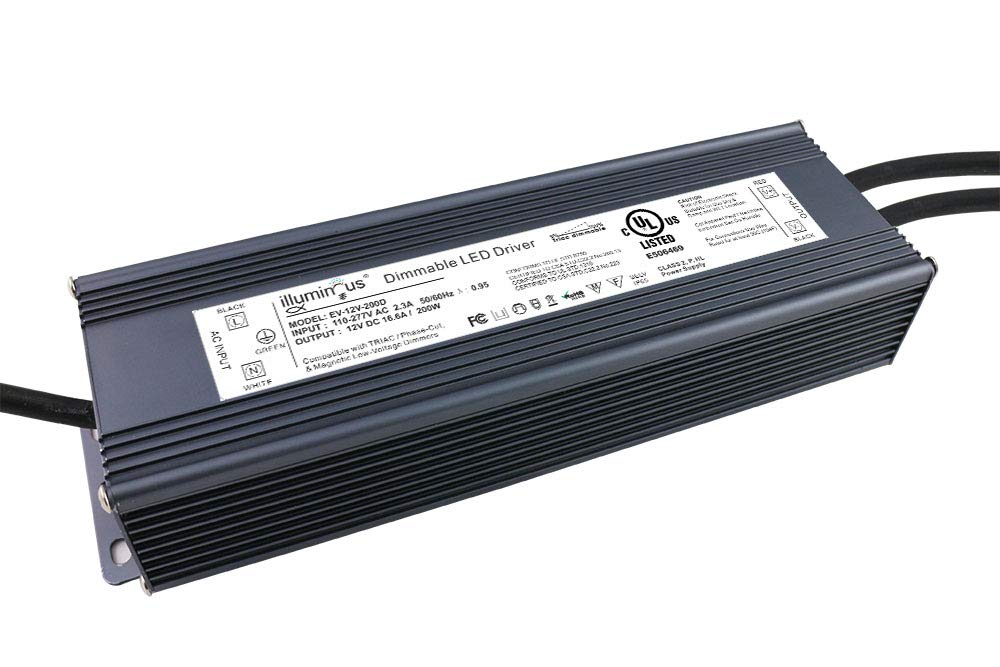 12V 200W Dimmable CV DC LED Driver UL Approved