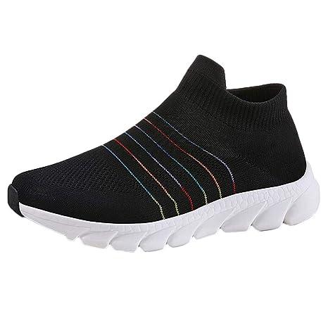 LILICAT❋ Fashion Flying Zapatos de Mujer Tejidos Suaves y Ligeros, cómodos, al Aire
