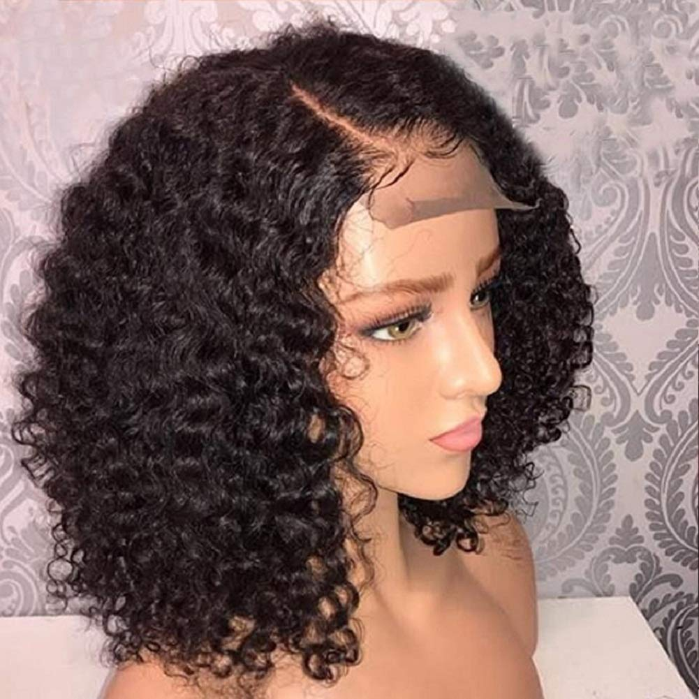 Mellow Hair 13x4 Brazilian Jerry Curl Wig Curly Lace Front Wigs Human Hair Afro Wig Frontal Wig Lace Closure Wig(16inch)