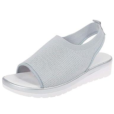 Btruely Zapatillas Deportivas de Mujer Zapatos Guisantes ...