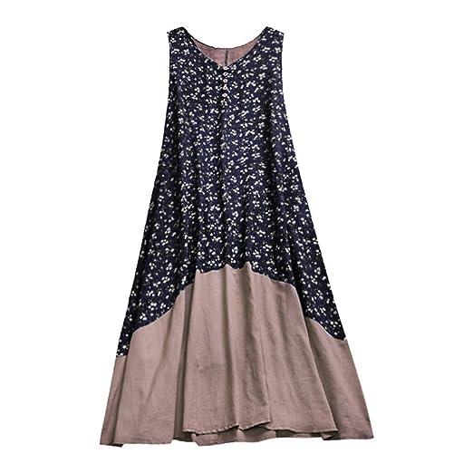 Amazon.com: Dress for Women Baggy House Dress Plus Size O Neck Short ...
