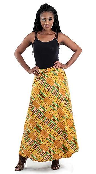 403c37bfdb910 African Kente Print Wrap Skirt - Pattern 1