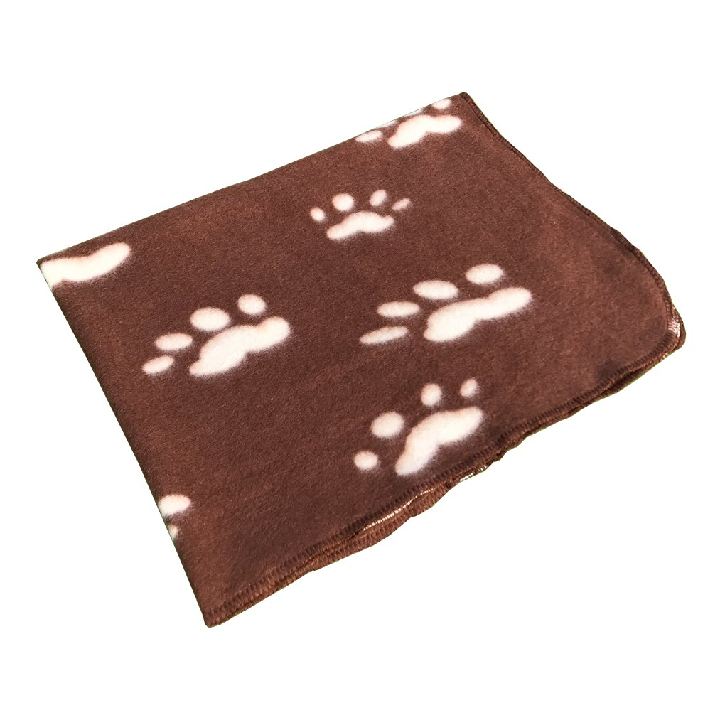 Pet Puppy Dog Blanket for Small Medium Large Dogs, 4 Pack - Red Blue Black Brown, Warm Soft Cozy Cat Dog Blankets and Throws Winter Pet Sleep Mat Pad Bed Cover with Paw Print (L - 32.3'' x 43.3'') by Joe's Home (Image #5)