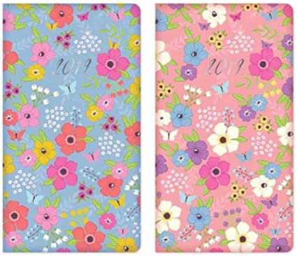 2019  Slim Week to View Diary padded  Colourful