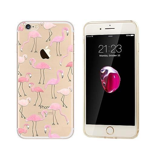 7 opinioni per iphone 7 custodia,NNIUK iPhone 7 copertura Flamingo Cute Animals TPU Ultra Clear