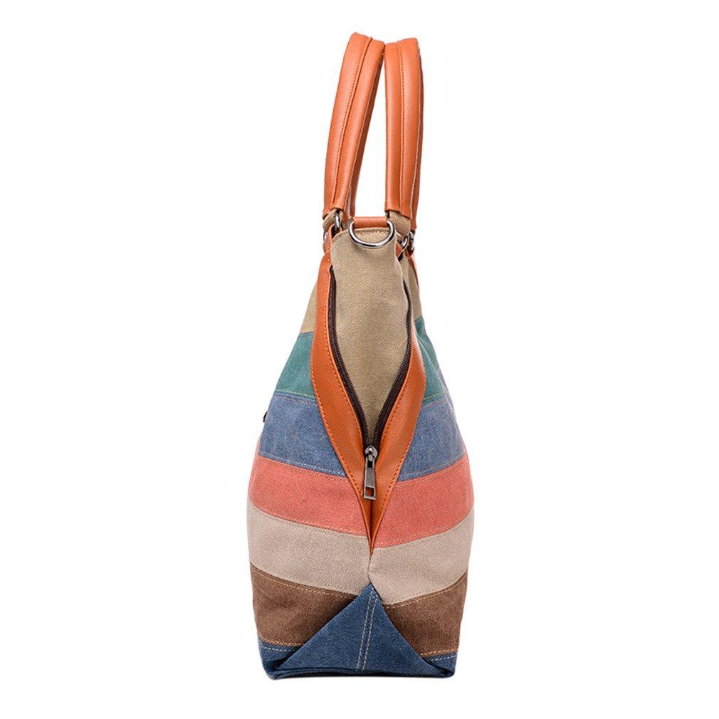 EFKNC Woman Messenger Bags Designer Handbags Ladies Canvas Patchwork Shoulder Crossbody Bag