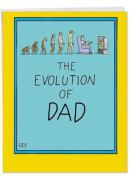 Evolución de Papá día del padre tarjeta de papel humor ...