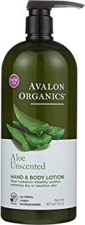 product image for Avalon Organics Hand and Body Lotion, Aloe Unscented - 32 oz