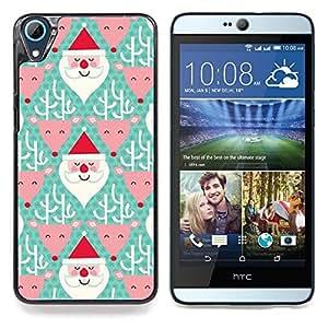 """For HTC Desire 826 Case , Reno de Papá Noel Navidad verde"""" - Diseño Patrón Teléfono Caso Cubierta Case Bumper Duro Protección Case Cover Funda"""