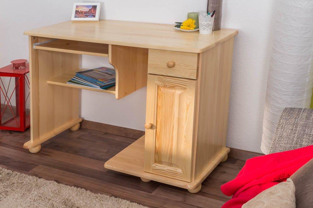 Schreibtisch kiefer massiv vollholz natur 008 abmessung for Schreibtisch vollholz