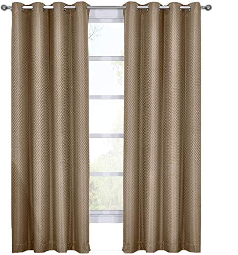Diamond Taupe Curtains