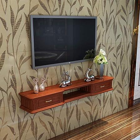 TriGold 2 Nivel Pared TV Mueble,Flotante Consola para TV Moderno Hogar Decoración Pared Colgante Consola para TV para Set-Caja De Cable Superior A 160x24x17cm(63x9x7inch): Amazon.es: Hogar