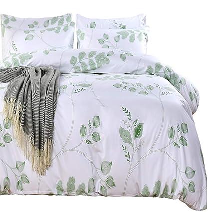 Amazon.com: SexyTown Botanical Duvet Cover Set with Zipper Closure