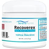 Recoverex OTC Pain Relief Cream [2 Ounce] for Joint Pain, Muscle Aches from Arthritis, Fibromyalgia, Carpal Tunnel, Sciatica, Plantar Fasciitis, Knee and Shoulder Pain and Inflammation All Natural