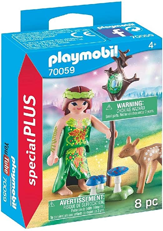 PLAYMOBIL- Special Plus Especial Hada+Cervatillo, Color carbón ...