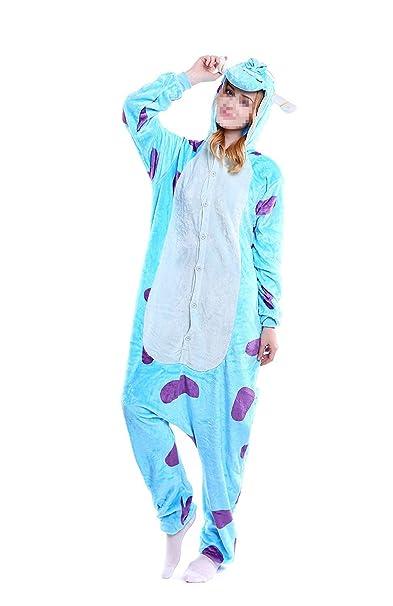 Mcdslrgo - Pijama de una pieza - para mujer Cow-blue Cow