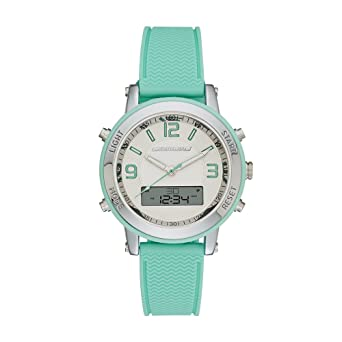 97b77c703 Skechers Women's Lynngrove Quartz Metal and Silicone Casual Watch Color:  Silver, Mint Green (