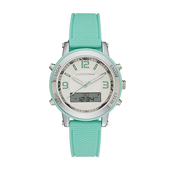 4b8cafd72bb Amazon.com  Skechers Women s Lynngrove Quartz Metal and Silicone Casual  Watch Color  Silver