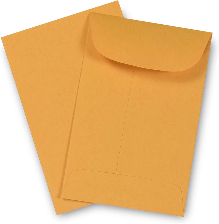 "Guardian #5-1//2 Coin Envelopes 500//Box 3-1//8/"" x 5-1//2/"" White"