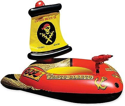 XCXDX Barco Pirata Fila Flotante con Pistola De Agua, Anillo De ...