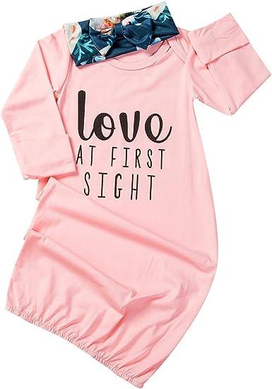 Pijama para bebé recién Nacido, Saco de Dormir + Diadema de 0 a 24 m Rosa Rosa 18-24 Meses: Amazon.es: Ropa y accesorios