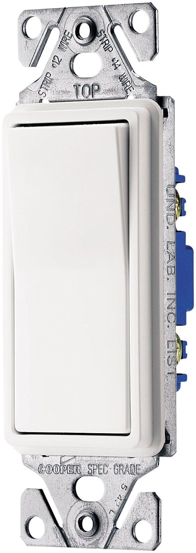 Eaton 7503W-BOX 15-Amp 120-Volt 3-Way Decorator, White - Wall Light Switches  - Amazon.com