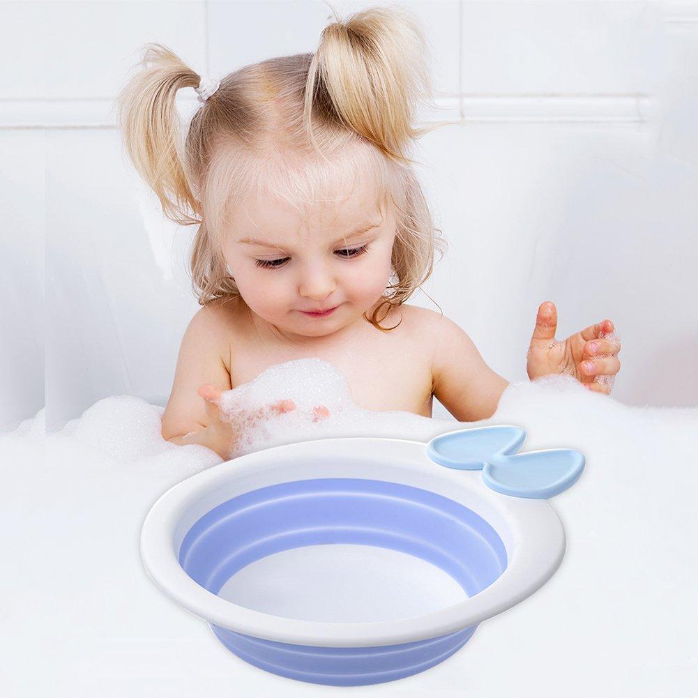 Samber Children Folding Washbasin Baby Outdoor Travel Collapsible ...