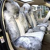 1 Pair Genuine Sheepskin Car Front Seat Cushion Universal...
