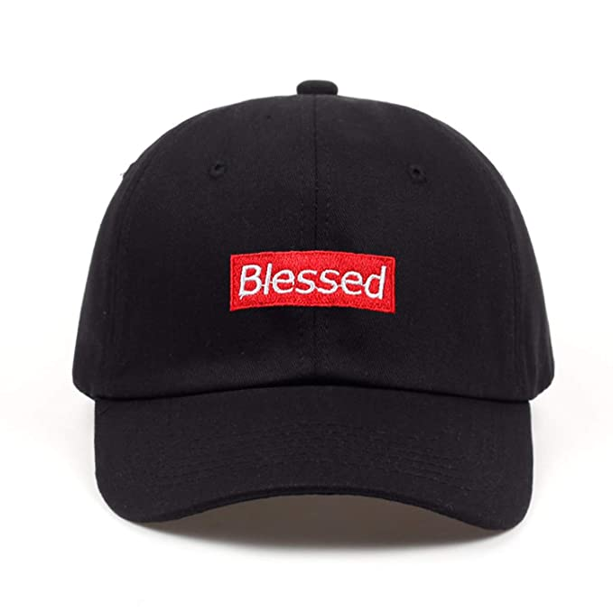 2251975ded0a0 Image Unavailable. Image not available for. Color  Brand Men Women Fashion  Blessed Custom Unstructured Dad Hat Adjustable Baseball Cap New 2018