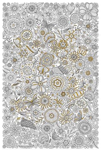 Blooms, Birds, & Butterflies Gold Foil Coloring