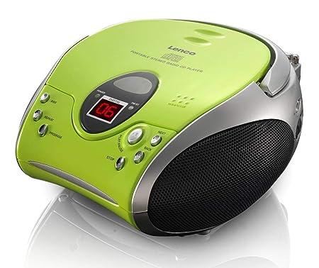 Lenco SCD24 - CD-Player für Kinder - CD-Radio - Stereoanlage - Boombox - UKW Radiotuner - Titel Speicher - 2 x 1,5 W RMS-Leis