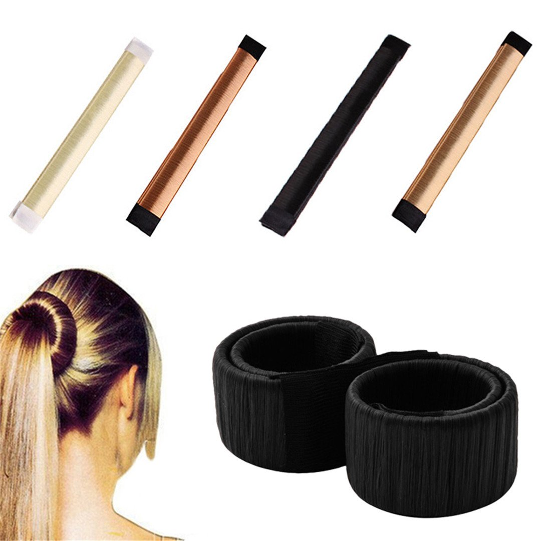 1Pc Hair Accessories Band Ball French Styling Curls DIY Curling Styling Tools Creamy white by HAHUHERT (Image #2)