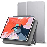 ESR iPad Pro 11 ケース 2018モデル Apple Pencilペアリングとワイヤレス充電機能対応 マグネットス吸着式 オートスリープ機能 スリム 軽量 シルク手触り 高級感 iPad Pro 11インチ専用(グレー)