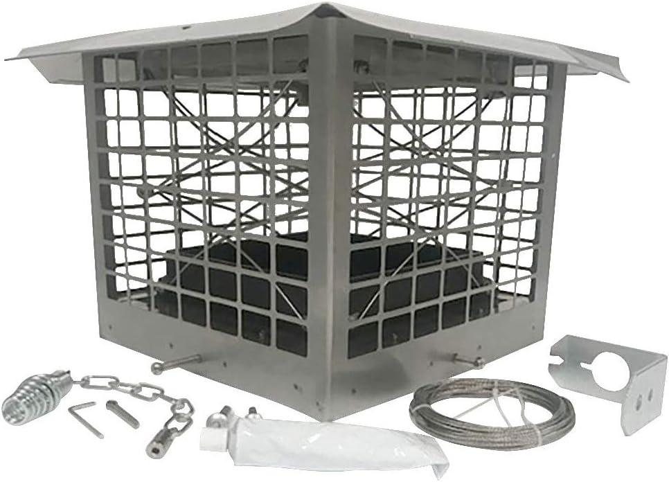 Chimney Cricket: Energy Saver Chimney Flue Damper Kit + Cap - 9