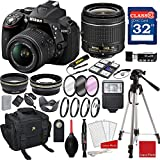 Nikon D5300 DX-format Digital SLR w/AF-P DX NIKKOR 18-55mm f/3.5-5.6G VR Lens + 3pc Filter Kit + Professional Accessory Bundle