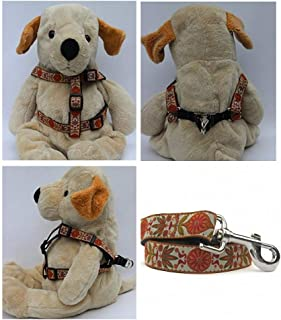 "product image for Diva-Dog 'Venice Ivory' Custom 5/8"" Wide Dog Step-in Harness with Plain or Engraved Buckle, Matching Leash Available - Teacup, XS/S"