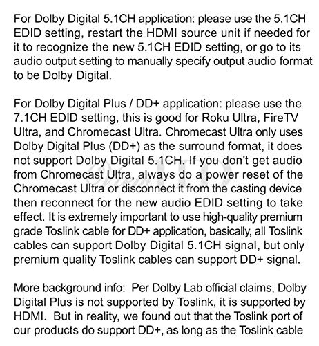 ViewHD UHD 18G HDMI Audio Extractor/Splitter Support HDMI v2.0   HDCP v2.2   4K@60Hz   HDR   ARC   3.5MM Analog Audio Output   Toslink Optical Audio Output   HDMI Audio Output   Model: VHD-UHAE2 by ViewHD (Image #5)