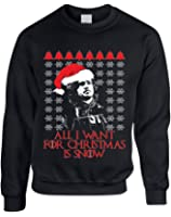 Allntrends Adult Sweatshirt All I Want For Christmas Is Snow Jon Snow Ugly