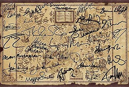 Harry Potter Wizarding World Cast Signed Poster Photo JK Rowling Daniel  Radcliffe Emma Watson Alan Rickman Pre-Printed Autographs 12x8\