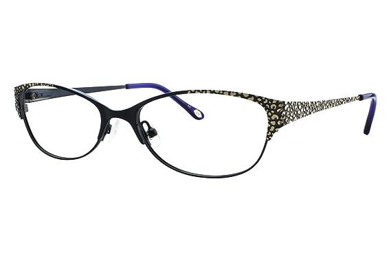 45b8194631d Amazon.com  Lulu Guinness L 767 Womens Eyeglass Frames - Blue Gold  Clothing