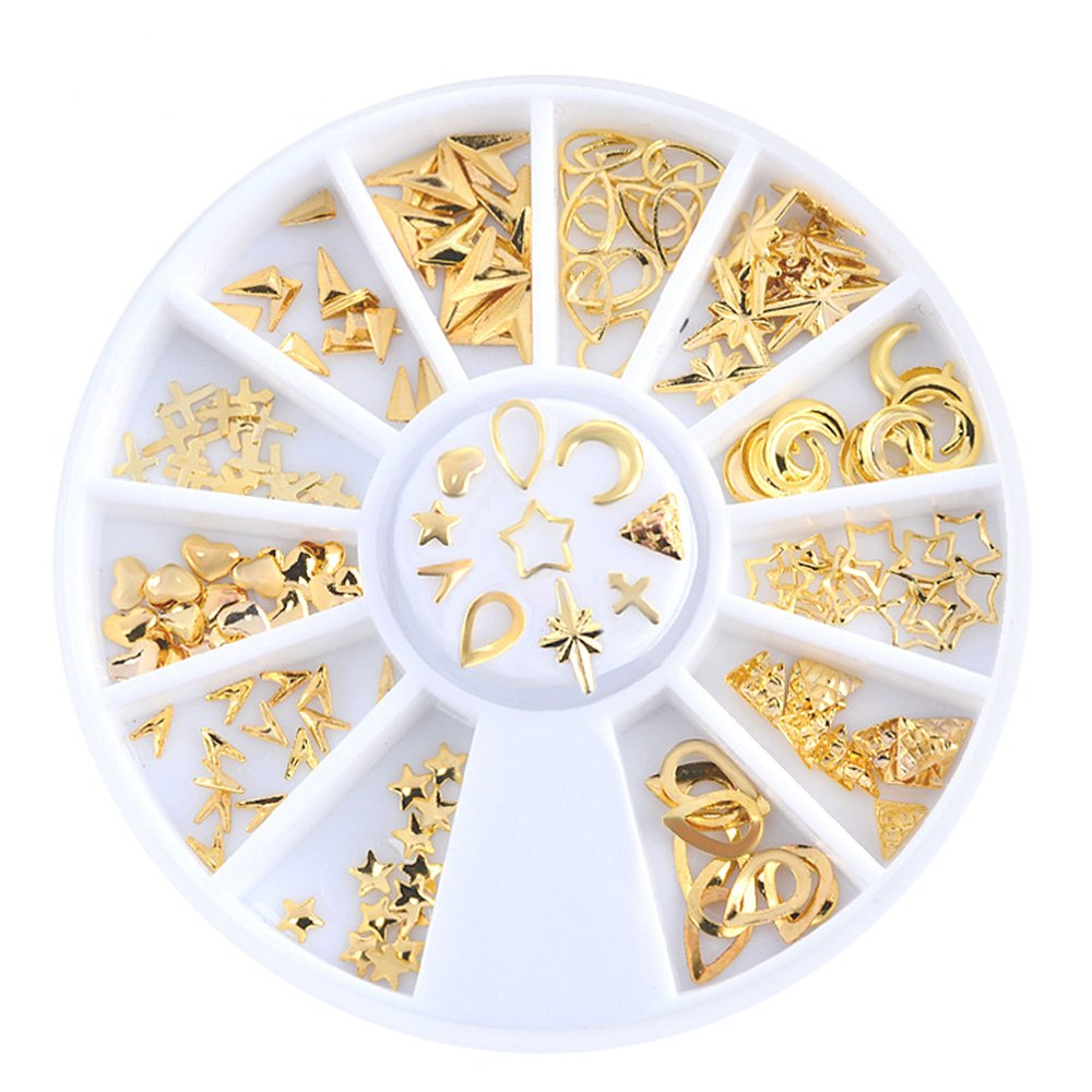 Joyeee 3D Nail Art Glitter Decorations Alloy Rhinestone Wheel Mix Design Nail DIY Decor Accessories #2