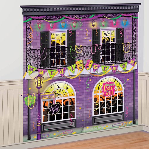 Mardi Gras Party Scene Setters Wall Decorating Kit ()