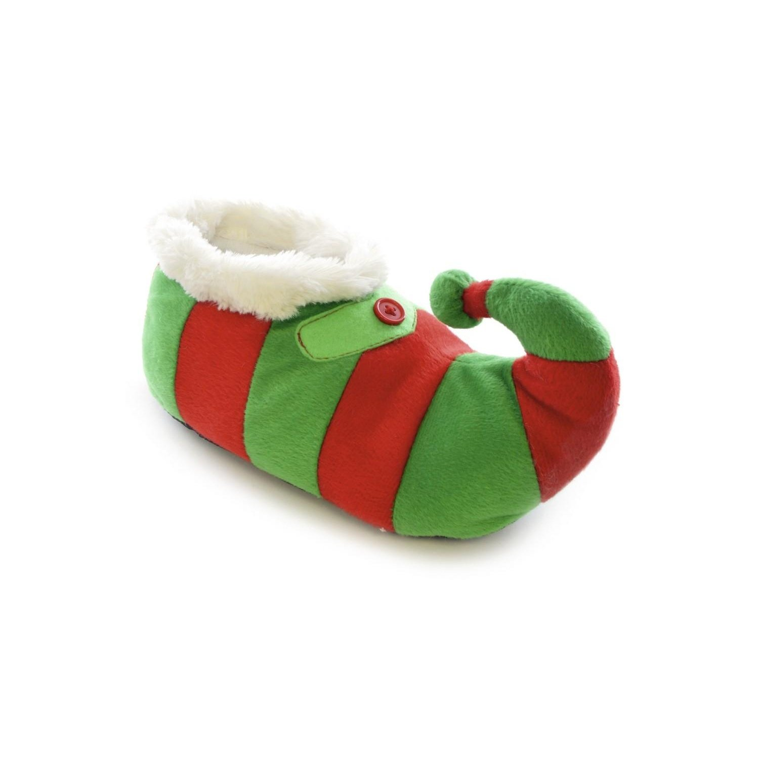 Amazon | Childrens/Kids Big Boys Striped Elf Design Novelty Christmas  Slippers US Child 1213 Green/Red/White | Slippers