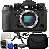 Fujifilm X-T2 (Body Only) - International Version (No Warranty) + 32GB SD Memory Card + High Speed Card Reader + Extended Life Replacement Battery (NP-W126) + Medium Carrying Case & More!