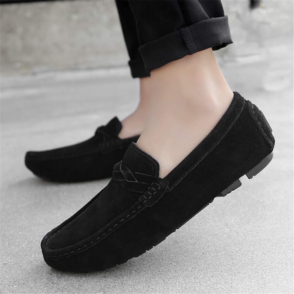 KENSBUY Mens Moccasin Loafer Shoes Mens Casule Slip on Shoes Dress Flat Boat Shoe
