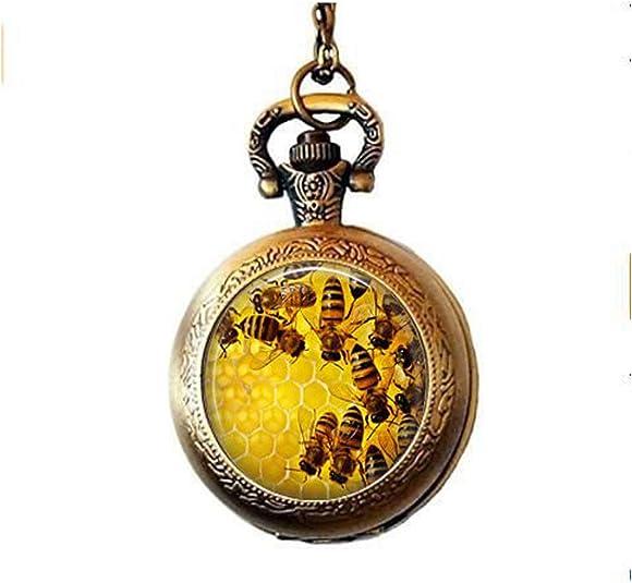 Hexagon Honey comb jewelry Honey bee necklace Honeycomb pendant Bee keeper gift Bee lover gift Bee pendant Beehive jewelry Kawaii