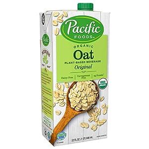 Pacific Foods Organic Oat Original Plant-Based Beverage | 32oz | 12-pack | New Pack