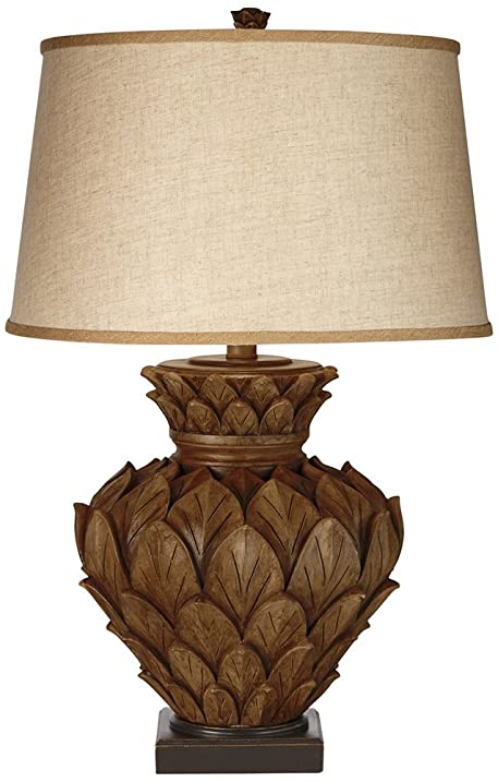 Artichoke Collection Tropical Brown Table Lamp